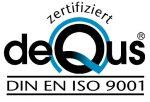 deQus DIN EN ISO 9001 Zertifikat
