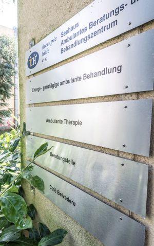 Therapiehilfe Seehaus Navigationstafel